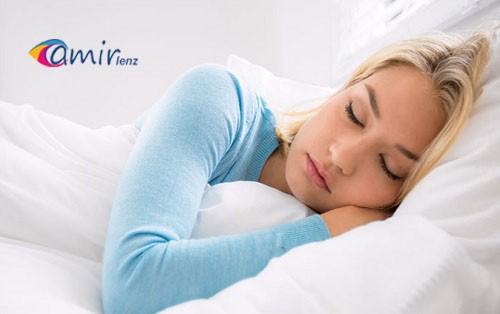 لنز و آسیب های آن در هنگام خواب